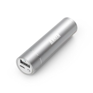 Anker 2nd Gen Astro Mini 3200mAh Lipstick-Sized Portable External Battery Charger with PowerIQ Technology for iPhone, Samsung, HTC and More (Silver)
