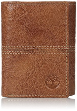 Timberland Men's Argento Quad Stitch Trifold Wallet