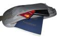 igogeer.com deluxe money belt with RFID blocking - khaki - passport and phone