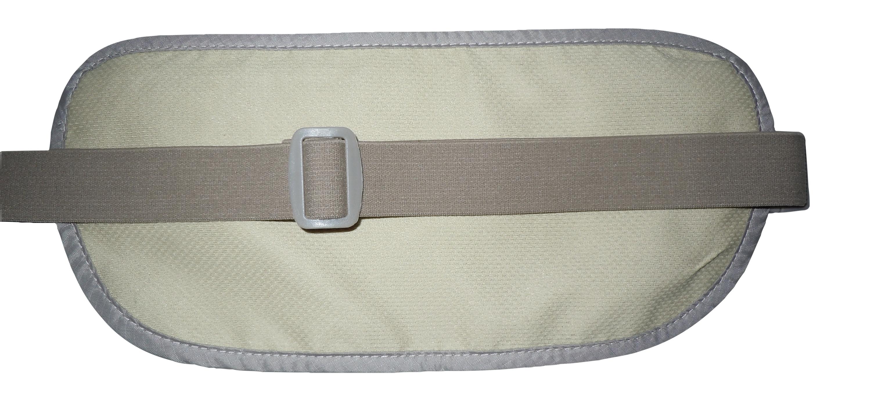igogeer.com deluxe money belt with RFID blocking - khaki - back