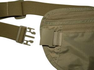 igogeer.com deluxe money belt with RFID blocking - khaki - buckle detail