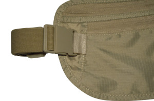 igogeer.com deluxe money belt with RFID blocking - khaki - belt and buckle