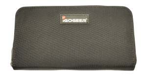 Igogeer.com - women travel clutch wallet W05 with Rfid blocking - Black
