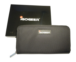 Igogeer.com - women travel clutch wallet W05 with Rfid blocking - with gift box