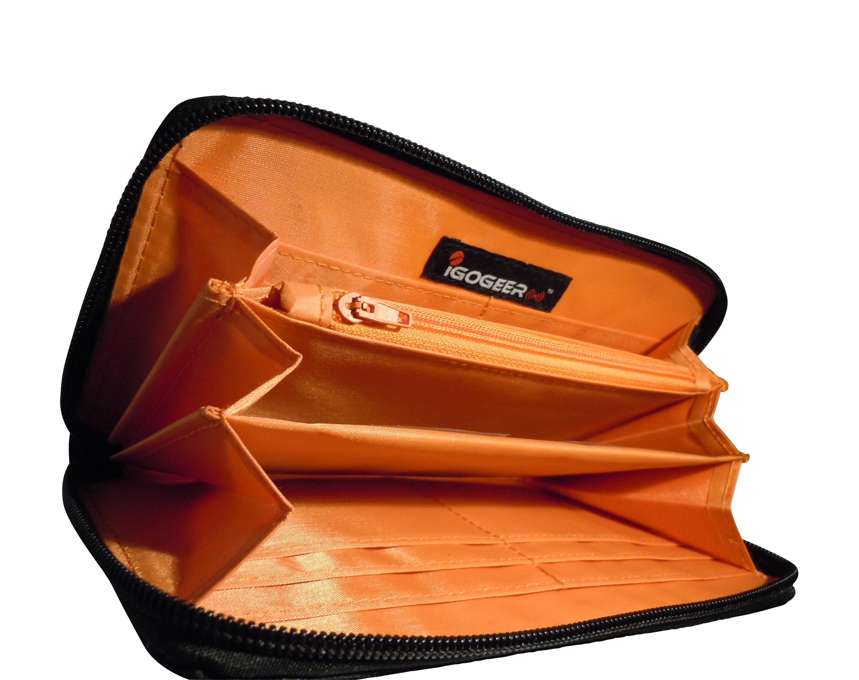 Igogeer.com - women travel clutch wallet W05 with Rfid blocking - internal  side 46f8a8eee
