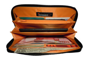 Igogeer.com - women travel clutch wallet W05 with Rfid blocking - internal full