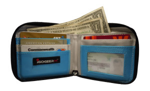 Igogeer.com - men pocket wallet M05 with Rfid blocking - internal full