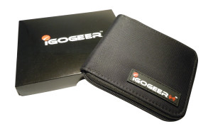 Igogeer.com - men pocket wallet M05 with Rfid blocking - front & gift box